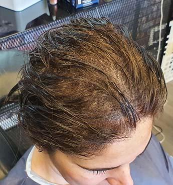 Saç simüle sonra